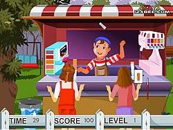 Bán kem trong công viên, chơi game bán hàng hay