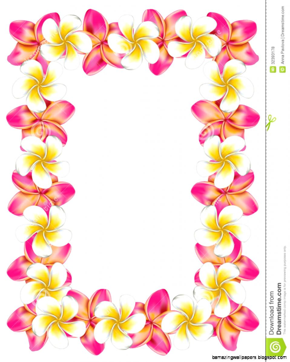 Hawaiian Flower Border Clip Art Amazing Wallpapers
