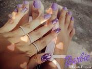 Unhas de Pelúcia Purple ♥ Flores Vintage