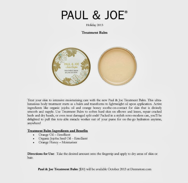 paul and joe treatment balm review holiday 2013