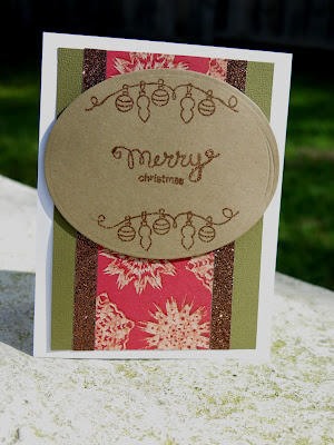 Merry Christmas Card by Danielle Pandeline for Newton's Nook Designs