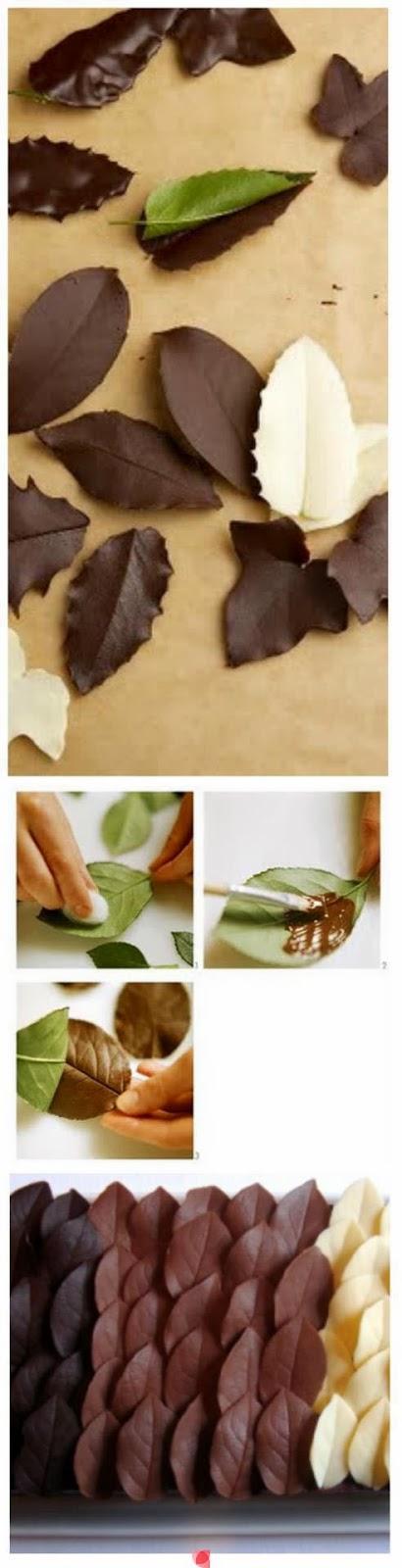 Folhas de chocolate fácil - blog casa comida e roupa de marca