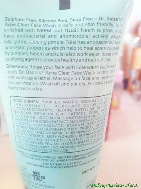 Dr. Batra Acne Face Wash Details