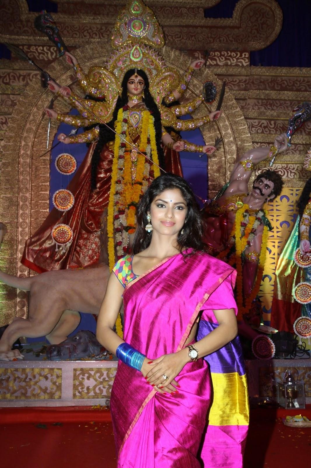 Celebs at North Bombay Sarbojanin Durga Puja Pandal Stills