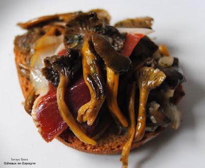 tapas faciles recette espagnol chanterelles legumes cuisine saine maigrir