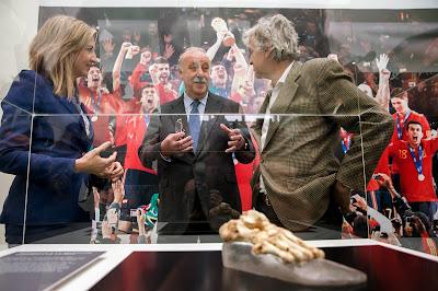 Bones, Fossil, Foot, Human, Body Part, Museum, History,  Human Evolution, Burgos, Homo heidelbergensis, Sima de los Huesos, Atapuerca., Spain,