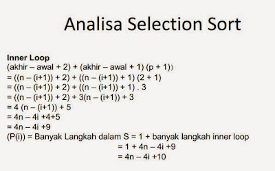 Analisa Kompleksitas Waktu dan Effisiensi Algoritma Selection Sort