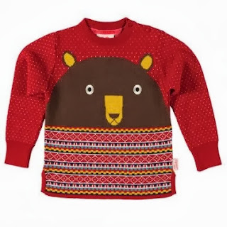 Tootsa Macginty Bear Knit Jumper Red
