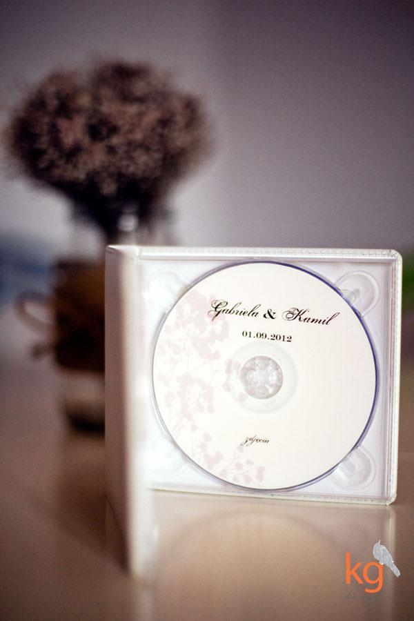 oryginalne podziękowanie dla gości, nadruk na płycie dvd, oryginalna i nietypowa poligrafia ślubna