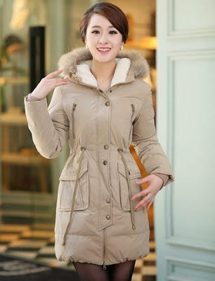 Drawstring Coat For Women