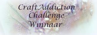 1ste prijs bij Craft Addiction en Challengeblog