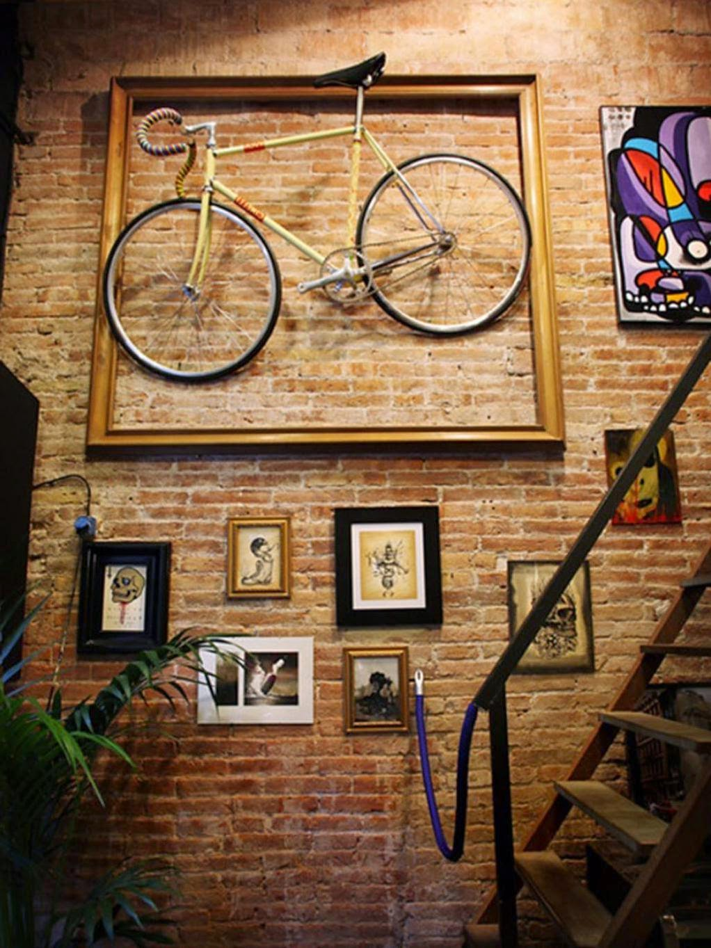 Bike On The Wall Decoration