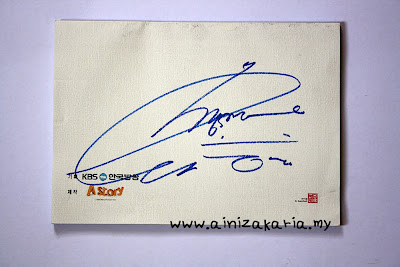 You're The Best Lee Soon Shin script autographed by IU