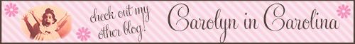Visit My Other Blog: Carolyn in Carolina!!!