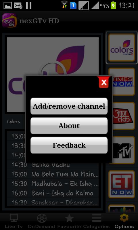 nexGTv HD:Mobile TV, Live TV 7.4 APK - com.mediamatrix ...