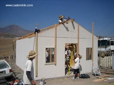 Casa económica de construcción rápida