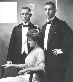 Friedrich, Franz Joseph et Auguste Viktoria von Hohenzollern