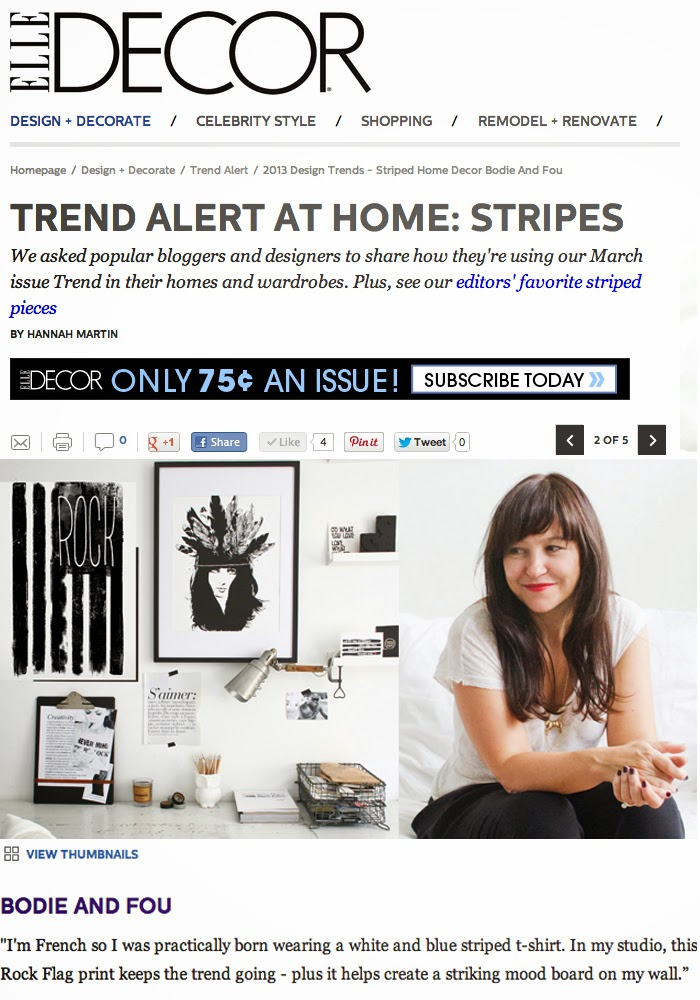 BODIE and FOU's Founder in ELLE DECOR US