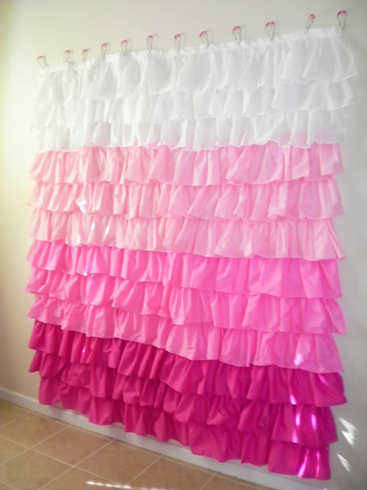 justcallmeblessed oodles of ruffles shower curtain