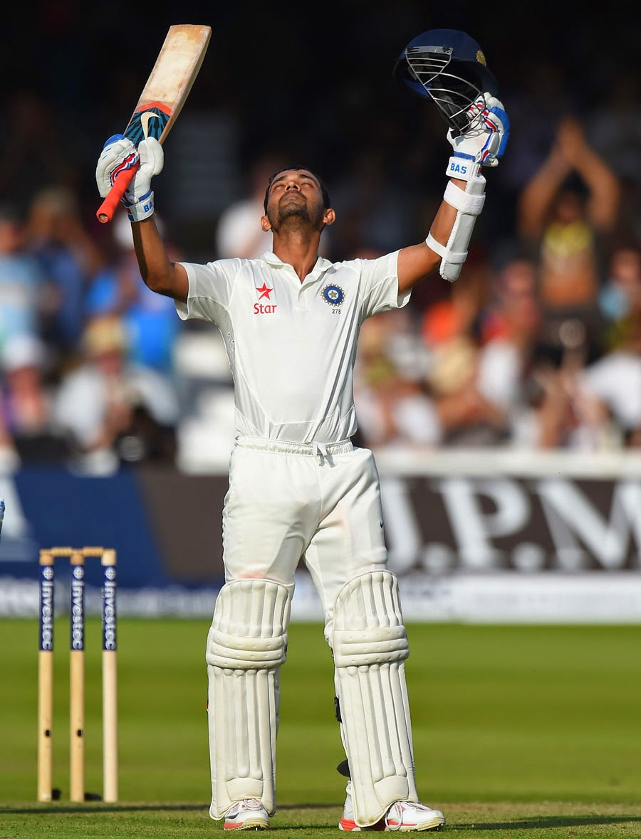 Rahane scores a century against england in first innings at lords