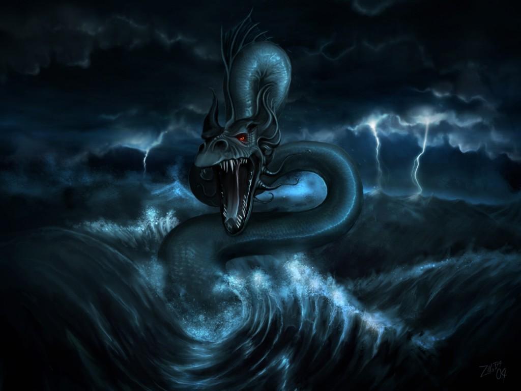 Dragon in the Sea || Top Wallpapers Download .blogspot.com