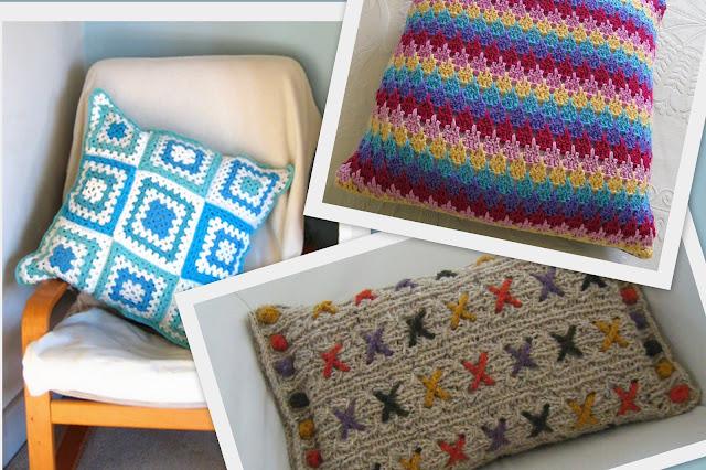 Almofadas de crochê na decoração