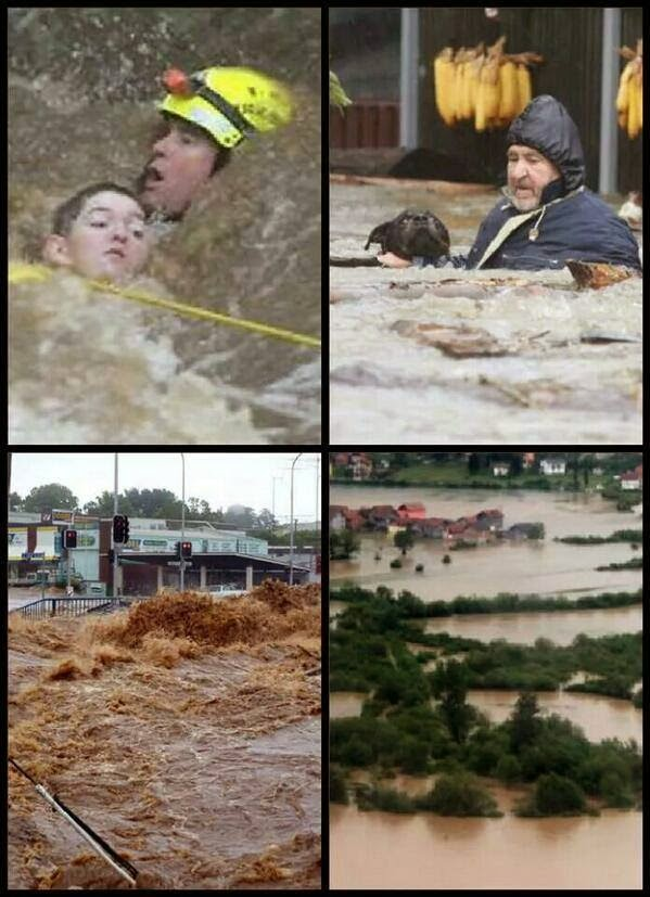 #SerbiaFloods #BosniaFloods Catastrophic situation in flooded areas of Serbia & Bosnia continuing. Help needed!