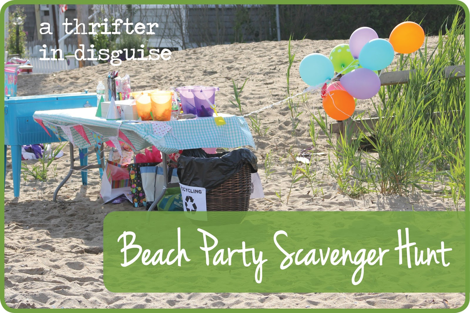 Beach Scavenger Hunt Birthday Party