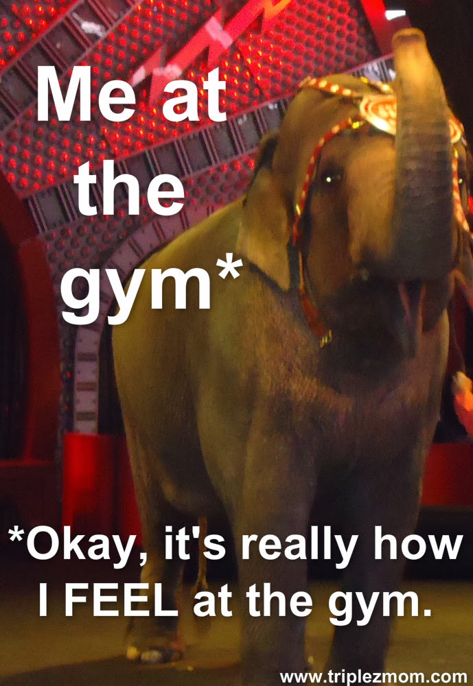 I hate making small talk at the gym.