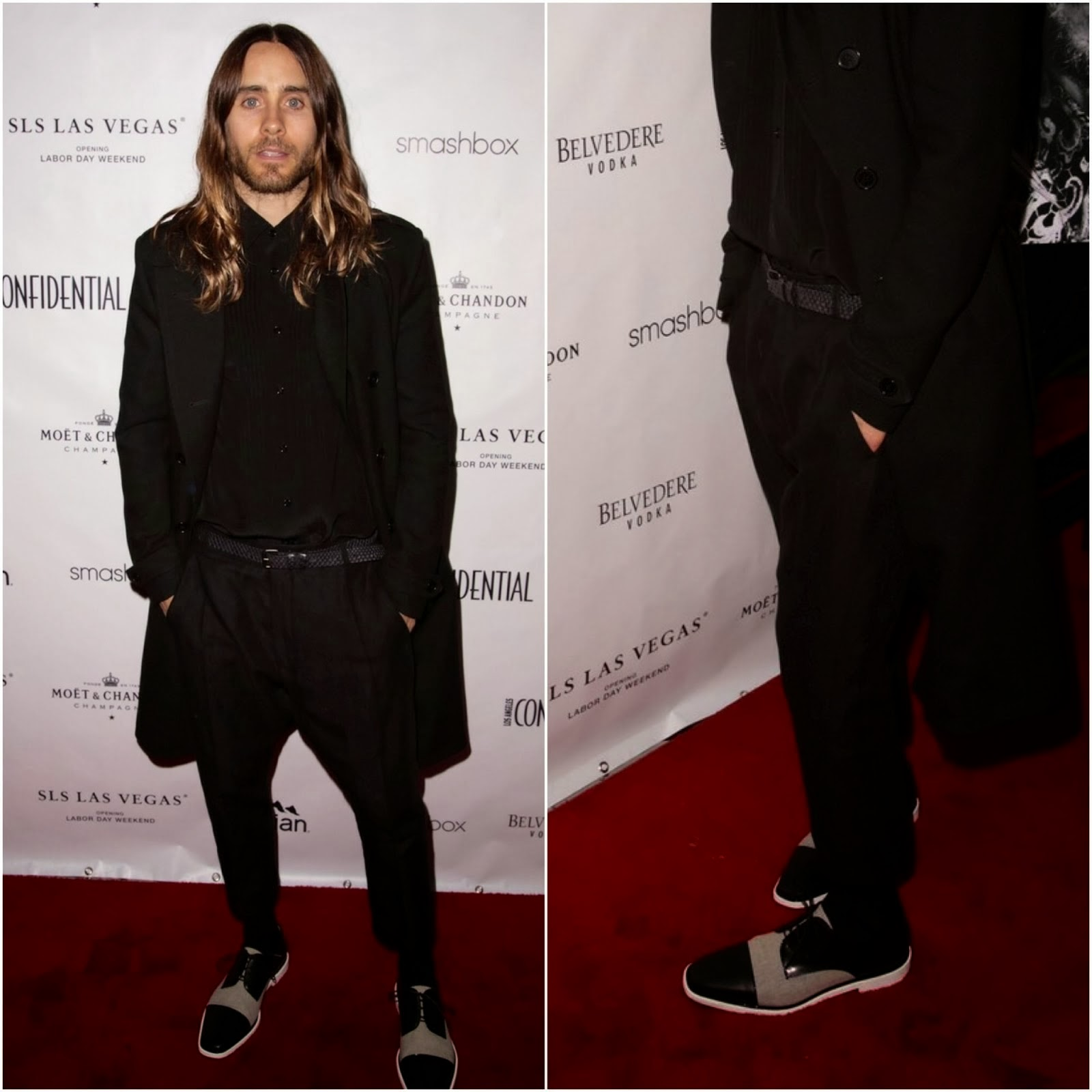 Jared Leto's Christian Louboutin 'Bruno Orlato' Shoes - Cover Party for Los Angeles Confidential Magazine
