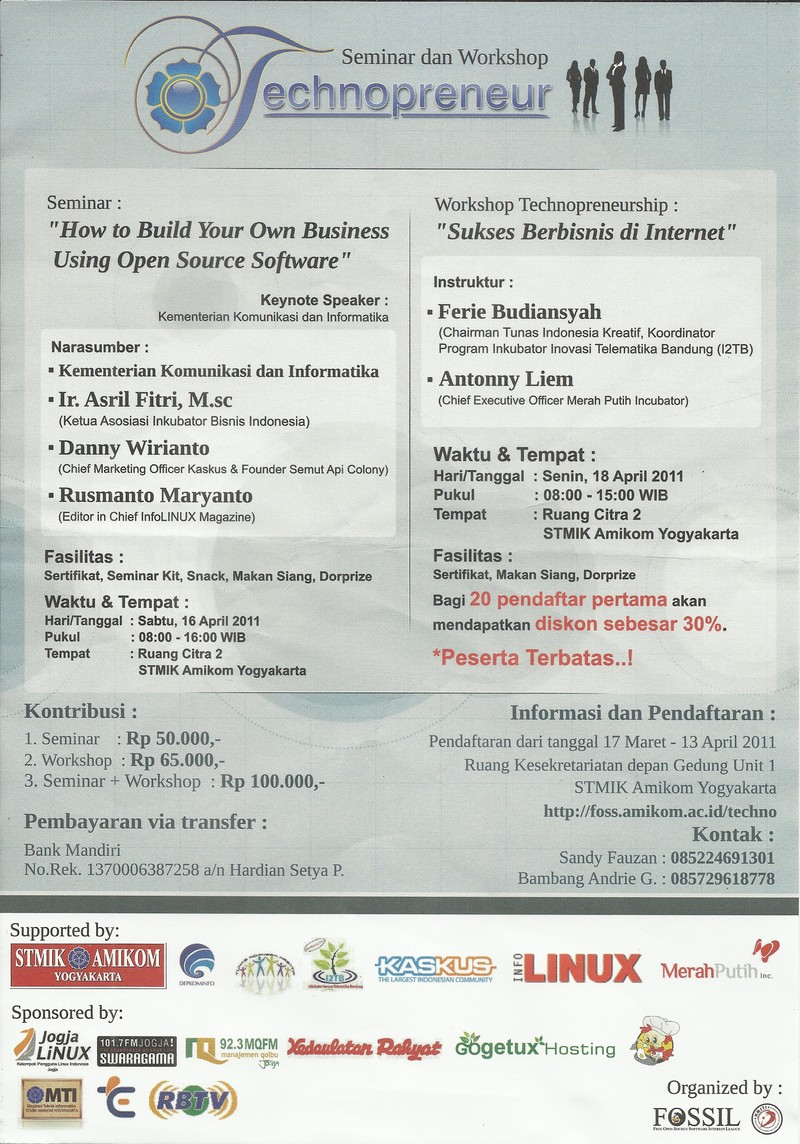 Seminar dan workshop technopreneur