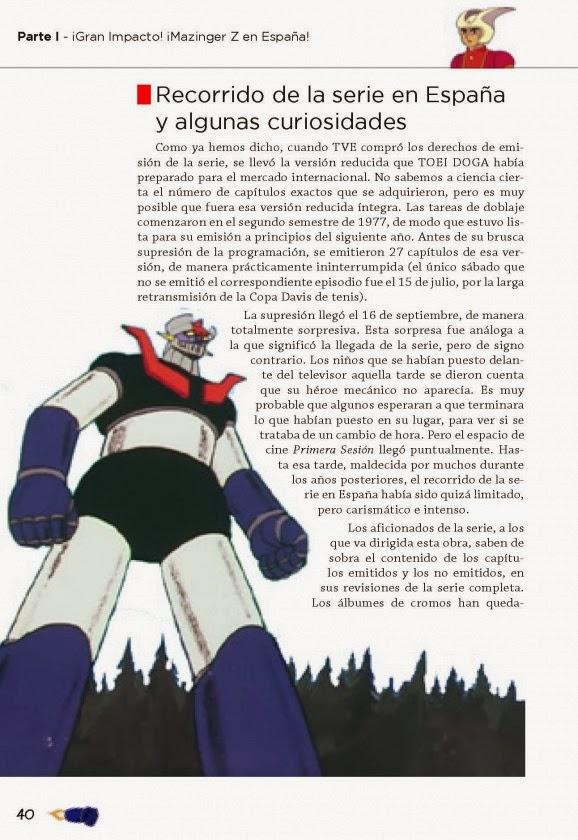 Interior de ¡Mazinger Z! ¡Planeador Abajo!, de Jesús Romero Recio