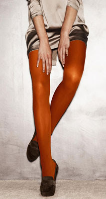 medias color naranja