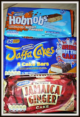 Jaffa cakes, hobnobs, ginger cake