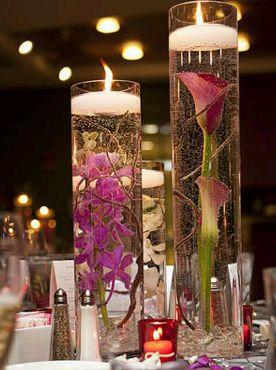 Centros de mesa con bases y jarrones de - Decoracion jarrones cristal ...