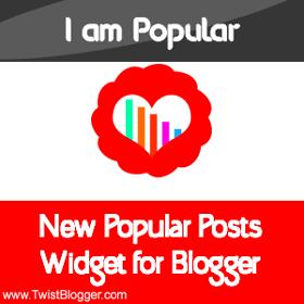 New Popular Posts Widget for Blogger