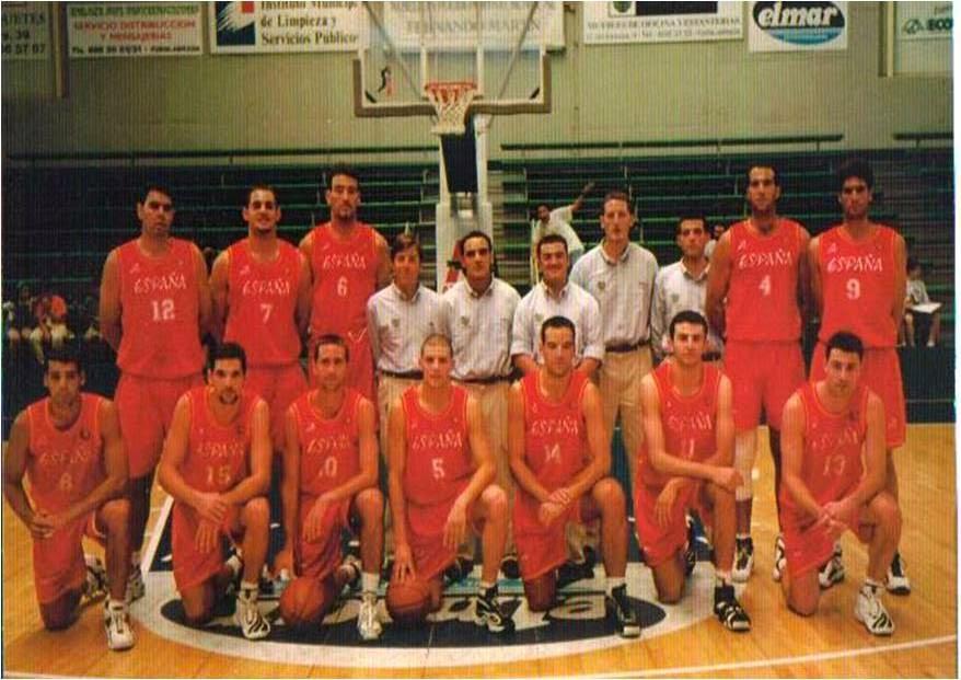 """ESPAÑA """"B"""". LIGA de VERANO ACB 1998. FUENLABRADA. ESPAÑA."""