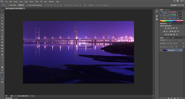 A Large Image Opened in Photoshop