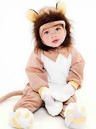 gambar bayi memakai kostum yang lucu kera