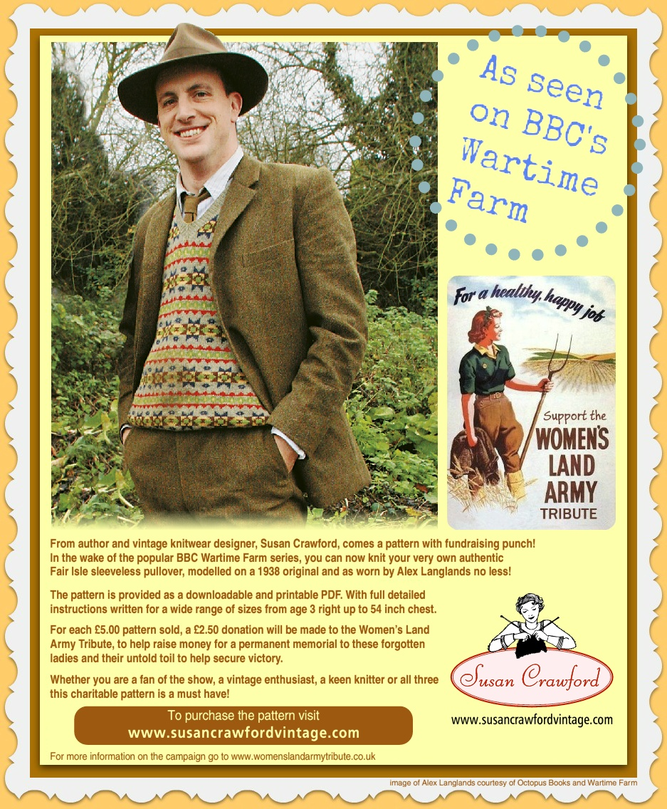 For the love of Land Girls - Vintage Charity Knit - Words by Fleur