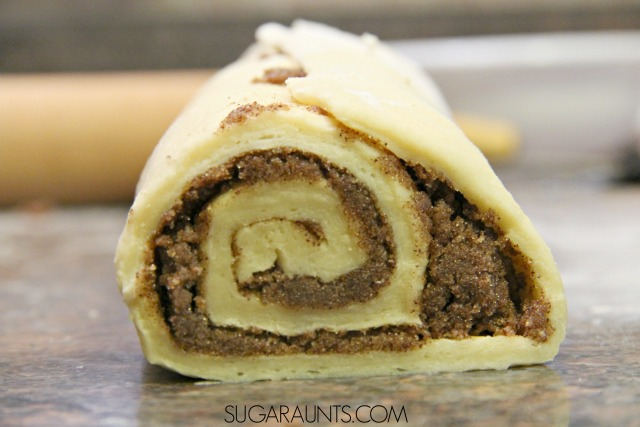 Overnight Cinnamon Rolls that are perfect to make for Christmas morning or any holiday.  Get the kids in on the baking for a cooking with kids learning activity.