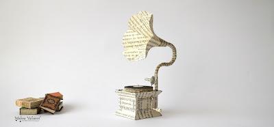 miniature-paper-gramophone