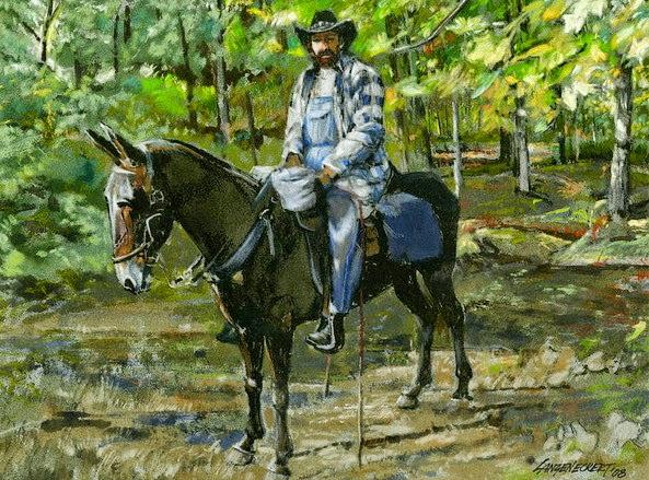 pinturas-decorativas-de-vaqueros-en-paisaje