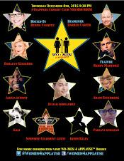Denise Vasquez Presents WO+MEN 4 APPLAUSE™ Comedy Show Dec 8th @Flappers Comedy Club Yoo Hoo Room