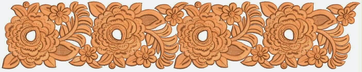 oranje blomme Kant grens