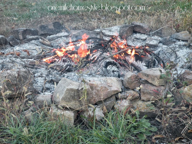 Fire in the Fire Pit