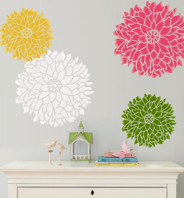 Plantillas de flores para decorar paredes para imprimir - Plantillas para decorar paredes ...