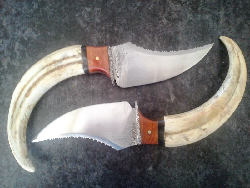 Two bear claw skinners