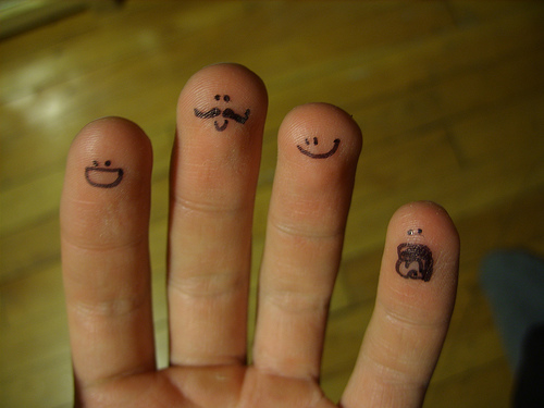 Cute Finger Tattoo Designs