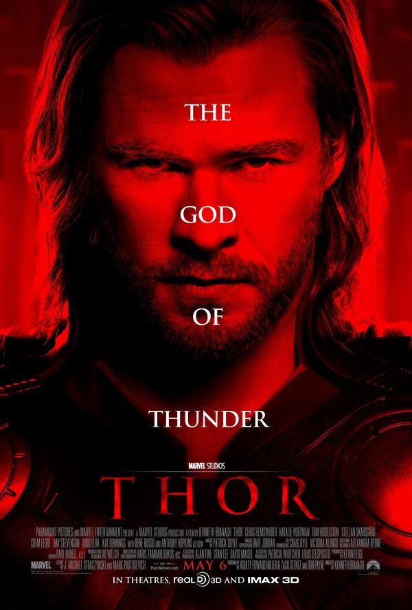 thor movie poster. chris hemsworth thor movie.